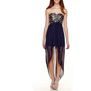 My Michelle Strapless High Low Dress Size 1